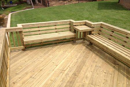 Custom Deckworks Backyard Patio Deck Bench Building A Deck