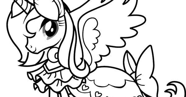 Princess Rarity My Little Pony Coloring Page | My Little ...