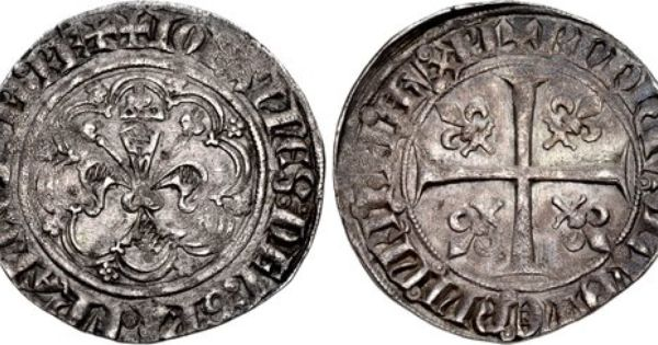 Cng The Coin Shop France Royal John Ii Of France The Good 1350 1364 Ar Gros A La Fleur De Lis Dit Patte D Oie 29mm 3 72 G 5h 1st Emi Ancient Coins