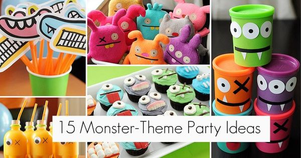 12 Adorable Monster Theme Party Ideas | Monster party ...