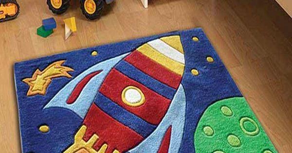 Space Rocket Bedroom Rug Kids Bedroom Pinterest