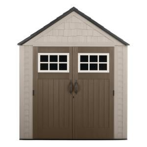 Rubbermaid Big Max 7 Ft X 7 Ft Storage Shed 1887154 The Home Depot Building A Shed Diy Shed Plans Storage Shed