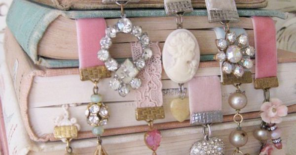 Make yourself a cool book marker using a piece of old jewelry!