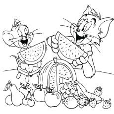 Top 10 Free Printable Tom And Jerry Coloring Pages Online Fruit Coloring Pages Coloring Books Cartoon Coloring Pages