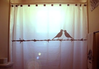 Love Birds Shower Curtain Barbed Wire Bathroom Decor Extra Long Fabric Shower Curtains 84 90 96 Inch Custom Stall Size 36 54 78 Bird Shower Curtain Custom Shower Curtains Cute Shower Curtains
