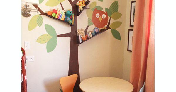 10 librer as originales para la habitaci n infantil ideas originales origi - Decorations murales originales ...