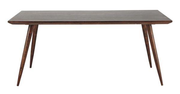 Table manger en bois de sheesham massif brun maisons for Table d architecte en bois
