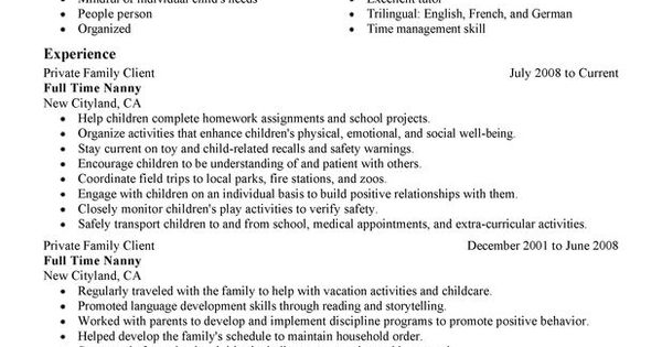 Best Caregiver Resume Sample It Could Help Them To Find Their Skills And Experiences Easily. So
