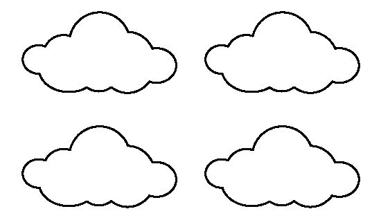 Unusual image intended for printable clouds cut out
