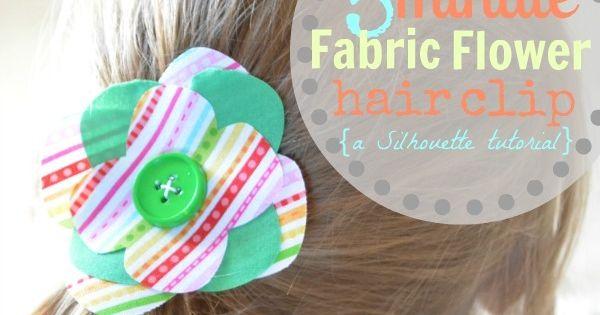 Fabric Flower clip, headband