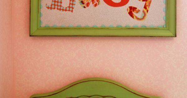 Cute baby girl room idea