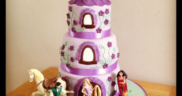 Rapunzel / Tangled birthday cake  Party ideas  Pinterest  Rapunzel ...