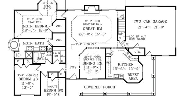 Country farmhouse main floor plan plan What is wic in floor plan