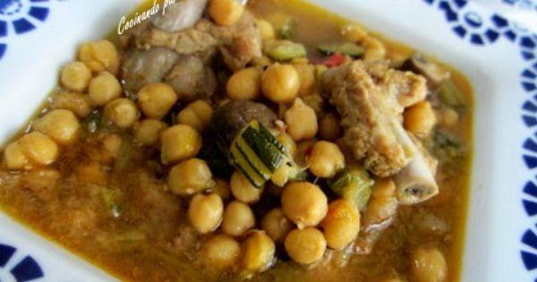 Cocinando para ellos garbanzos con costilla y verduras - Garbanzos con costillas ...