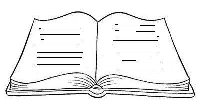 Modelos E Moldes De Livro Em Branco Livro Aberto Para Escrever