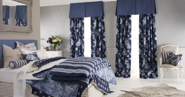 Beautiful Bedroom Decorating Ideas With Blue Navy Bedding