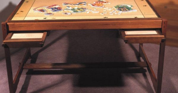 Love This Puzzle Table With The Pull Out Drawers Puzzle