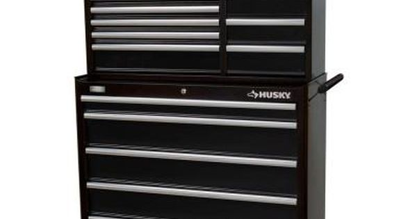 Husky 41 In 13 Drawer Chest And Cabinet Set Black Htc408bdlx12