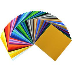 The Starter Pack Of Oracal 651 Adhesive Vinyl Has Over 60 Brilliant Colors In 12x12 Sheets Ord Glitter Heat Transfer Vinyl Adhesive Vinyl Sheets Vinyl Tshirts