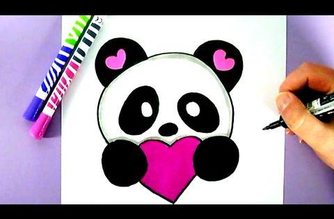 niedlicher panda nachmalen wie zeichnet man einen lieben. Black Bedroom Furniture Sets. Home Design Ideas