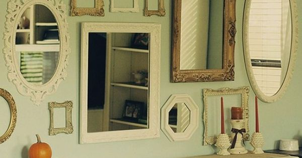 Love the ideas of lots of different types of mirrors for Types of mirror frames