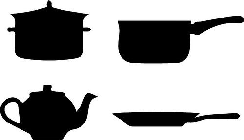 Cafeteria Pots and Pans | Church Food Clipart