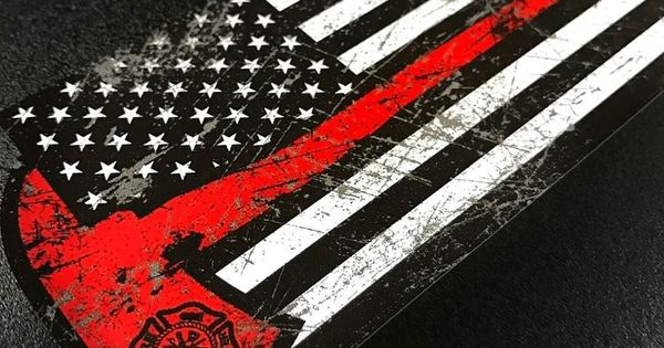 american flagfirefighter flagthin red line fire