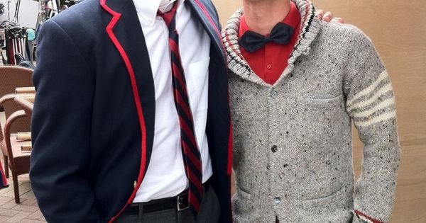 So freakin adorable. Grant and Darren aka Sebastian Smythe and Blaine Anderson
