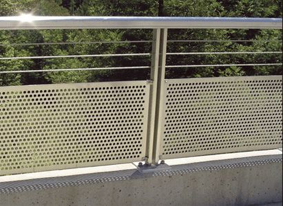 Perforated Metal Panels Railing Design Fence Decor Fenced In Yard