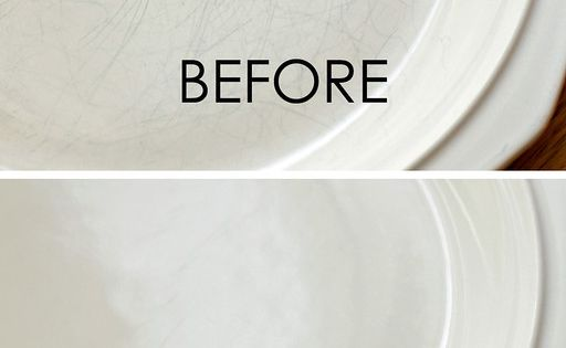 scratches off dishes Also from Pinterest- Bar Keepers Friend Liquid Cleanser and
