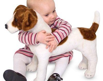 Melissa & Doug Giant Jack Russell Terrier Lifelike Stuffed