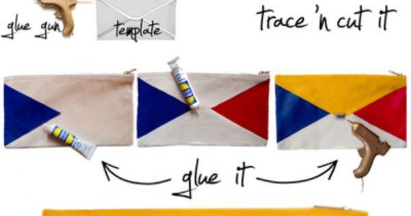 Art simple DIY clutch diy-inspi
