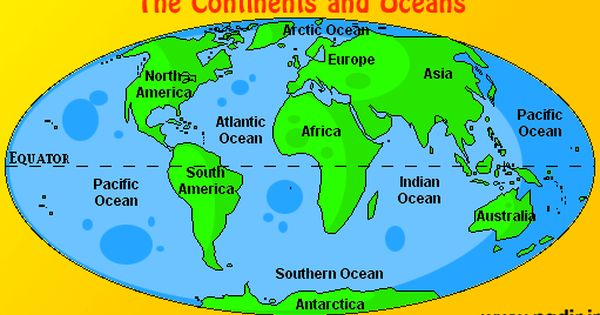 Digital Computer Graphics Map Of Seven Continents And The Oceans 7 Continents Asia Australia Africa An Continents And Oceans Social Studies Maps Continents Label continents and oceans printable