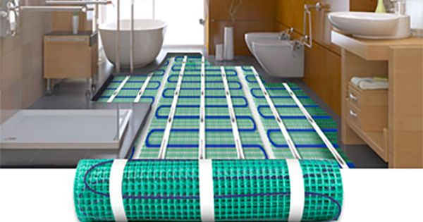 Heated Tile Floor Electric Radiant Floor Heating Under Tile Heated Floors Heated Tile Floor Floor Heating Systems