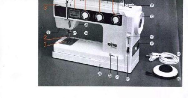 Elna Su Air Electronic 1 Sewing Machine Instruction Book User Manual Sewing Machine Manuals Sewing Machine Instruction Manuals Sewing Machine Instructions