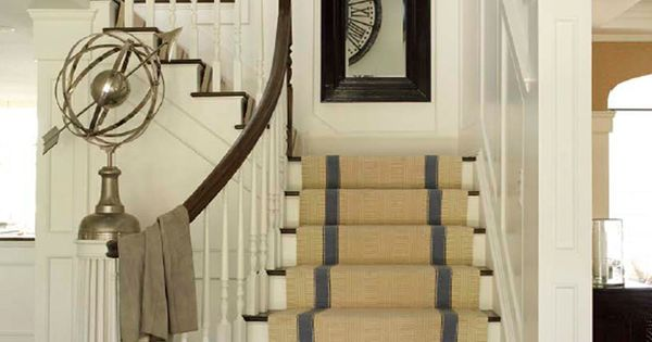 Striped Sisal Runner Entries Staircases Pinterest And