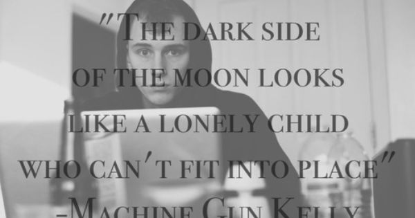 Dark Side Of The Moon A Machine Gun Kelly Lyric From Black Flag