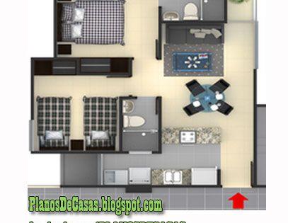 Plano de departamento peque o 30 m2 planos de casas for Fachadas para departamentos pequenos