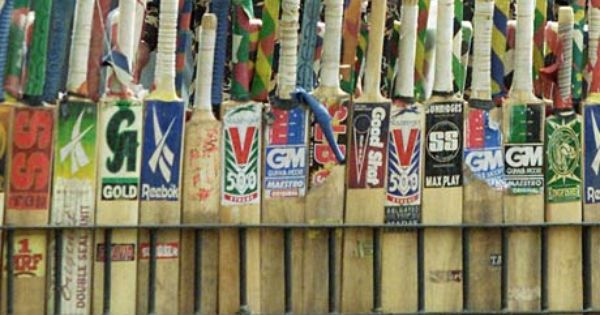 A Row Of Cricket Bats On Sale At A Street Side Shop Cricket Bat Cricket Spinning