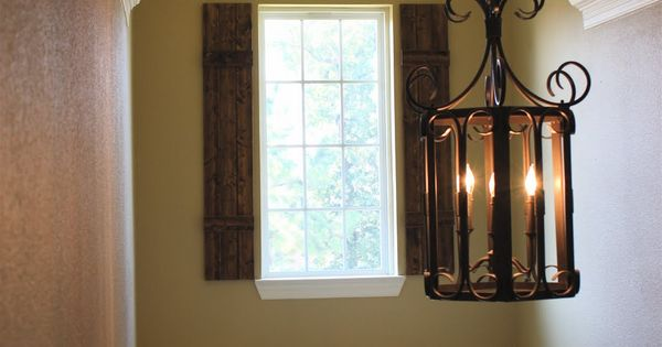 Foyer Window Shutters : Diy rustic shutters new foyer lighting adding