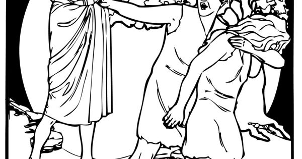 Adam and eve expelled from the garden of eden bible for Garden of eden coloring page