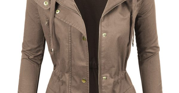 Womens Lightweight Cotton Military Anorak Jacket With