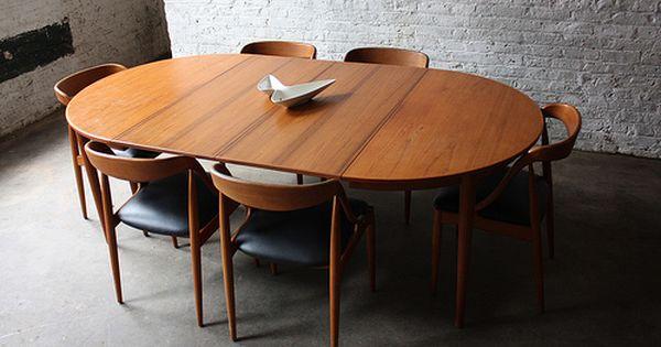 Breathtaking Johannes Andersen Danish Modern Teak Dining Table And