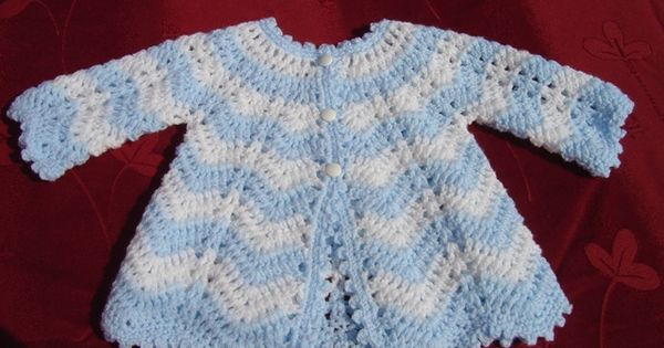 Crochet Stitch Jacket : https://flic.kr/p/aeHm69 Chevron stitch baby jacket . www.etsy.com ...