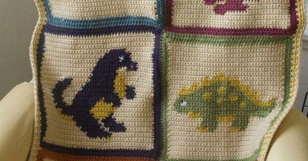 Dino Blanket By Quirky Laurel Via Flickr Baby Ideas