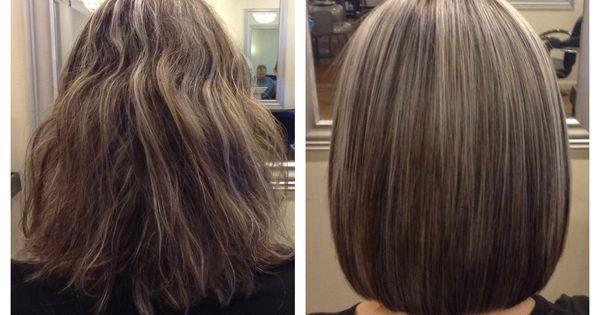 Before and after. Long layered bob. | Hair Cuts ...