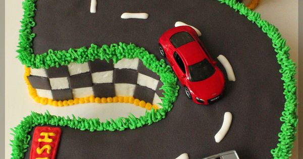 Butter Icing Cake Decorate Race Track