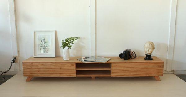 Consola para tv dise o escandinavo madera paraiso - Muebles tv diseno ...