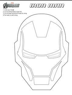 Printable Ironman Mask Iron Man Mask Iron Man Birthday Iron Man