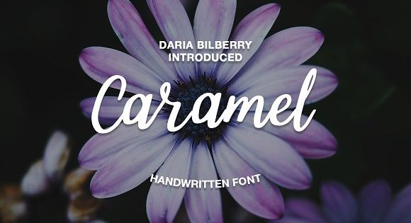 Caramel handwritten font by Daria Bilberry